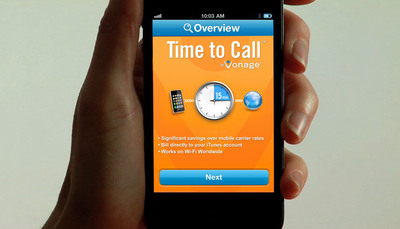 Vonage Launches International Calling App With Direct Payment Through iTunes.  (PRNewsFoto/Vonage Holdings Corp.)