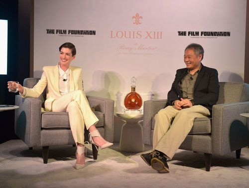 Anne Hathaway and director Ang Lee; Photo credit: Charley Gallay/ WireImage for LOUIS XIII (PRNewsFoto/LOUIS ...