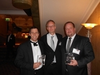 Keith Kriel (Vodacom), Per-Erik Johansson and Daniel Eriksson (DigitalRoute) collected GTB Innovation Award 2014
