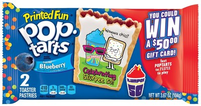 Limited Edition Printed Fun Pop-Tarts(R) Frosted Blueberry