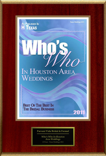 Parvani Vida Bridal & Formal Selected For 'Who's Who In Houston Area Weddings'