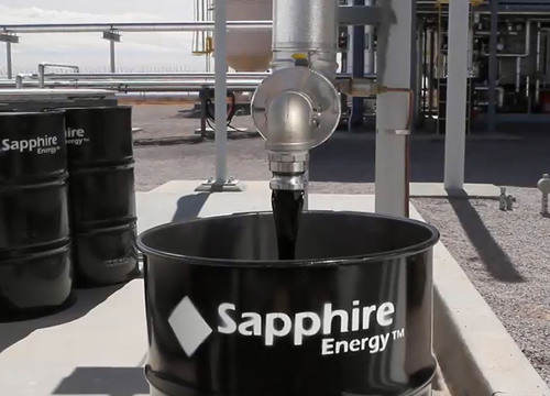 Sapphire Energy is producing Green Crude oil from algae year-round at the Green Crude Farm.  (PRNewsFoto/Sapphire Energy, Inc.)
