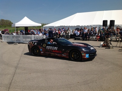 "Ball Aerospace and the U.S. Air Force demonstrate new human performance technologies at Wright-Patterson Air Force Base, Dayton, Ohio.  The technologies have helped former quadriplegic IndyCar driver Sam Schmidt to safely drive a Corvette C7 'Stingray.' Ball and the AFRL are collaborating on the initiative known as the SAM Project, standing for ""semi-autonomous motorcar"" with Arrow Electronics, Inc., Schmidt Peterson Motor Sports and Falci Adaptive Motorsports.  Schmidt will officially demonstrate the SAM ..."