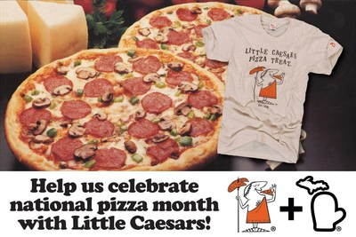 LEADING MICHIGAN CENTRIC APPAREL BRAND, THE MITTEN STATE, WORKING WITH LITTLE CAESARS(R) PIZZA TO INTRODUCE THROWBACK T-SHIRT http://www.themittenstate.com