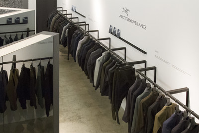 Interior view of Arc'teryx Veilance concept shop at 81 Greene Street