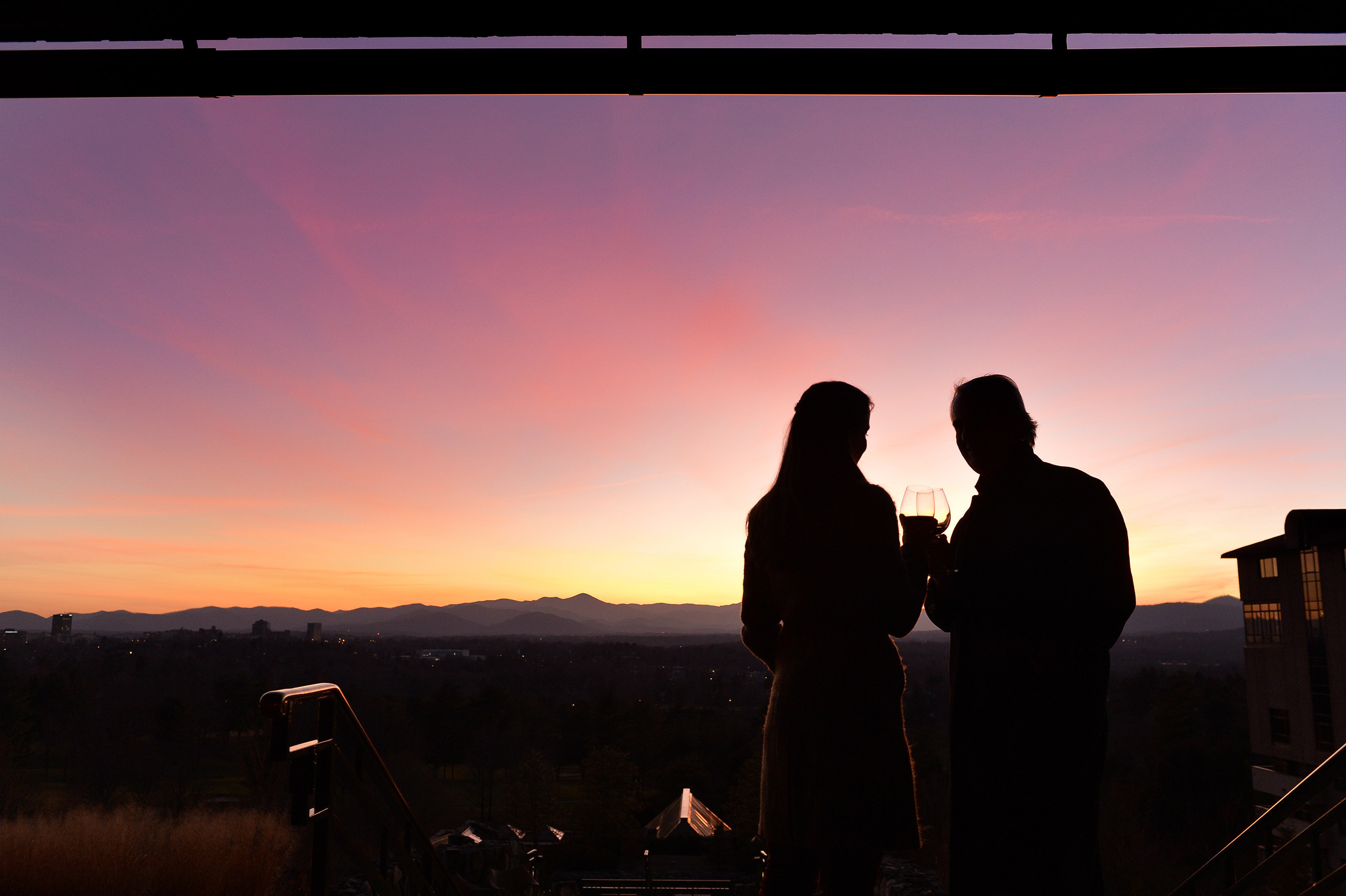 Nestled in the Blue Ridge Mountains, Asheville has long attracted those seeking escape, adventure and romance. With more than 250 independent restaurants, 21 local breweries, a walkable downtown, an eclectic art and culture scene and a myriad of accommodation choices, Asheville makes for a cozy, romantic getaway location.  (Photo courtesy of ExploreAsheville.com)