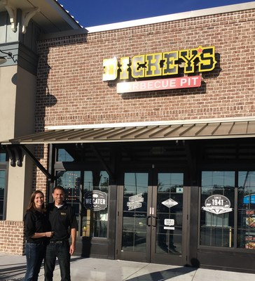 Bradley and Nicole Sweeney open new Dickey's Barbecue Pit location in Murrells Inlet, SC.