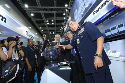 The Inspector General of Royal Malaysia Police, Tan Sri Dato' Sri Khalid Abu Bakar launched Panasonic's latest products at IFSEC Southeast Asia 2015