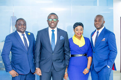 L-R: David Asuku (Head of Operations), Onyeka Akumah (Chief Commercial Officer), Toyin Omotosho (Head of Human Resources) and Wale Ayorinde (Chief Technology Officer). (PRNewsFoto/Travelbeta & Tours Limited)