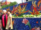 Hanoi, Vietnam. Ana Tzarev at the Hanoi Ceramic Wall with Project Director Nguyen Thu Thuy. (PRNewsFoto/Ana Tzarev Gallery)