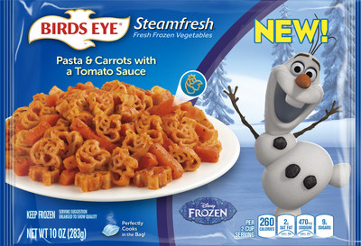 Birds Eye(R) Vegetables Launches New Products Featuring Disney Characters, Just in Time for October's National Family Health Month