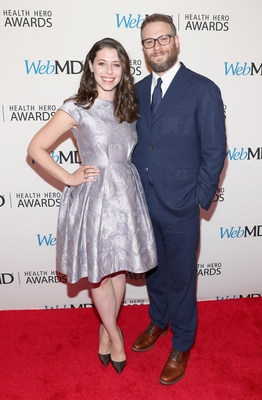 WebMD People's Choice Award recipients Seth Rogen and Lauren Miller Rogen attend the 2016 WebMD Health Heroes Awards on November 3, 2016 in New York City.