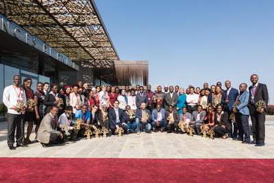 The Next Einstein Forum's 15 Fellows and 54 Ambassadors representing Africa's rising and established STEM talent at the first-ever NEF Global Gathering in Dakar, Senegal.