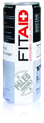 Official FitAID can.  (PRNewsFoto/LifeAID Beverage Company)