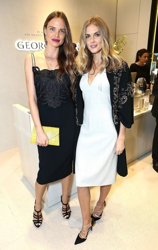 Alicia Rountree and Donna Air attend the Georg Jensen flagship launch, London (PRNewsFoto/Georg Jensen) ...
