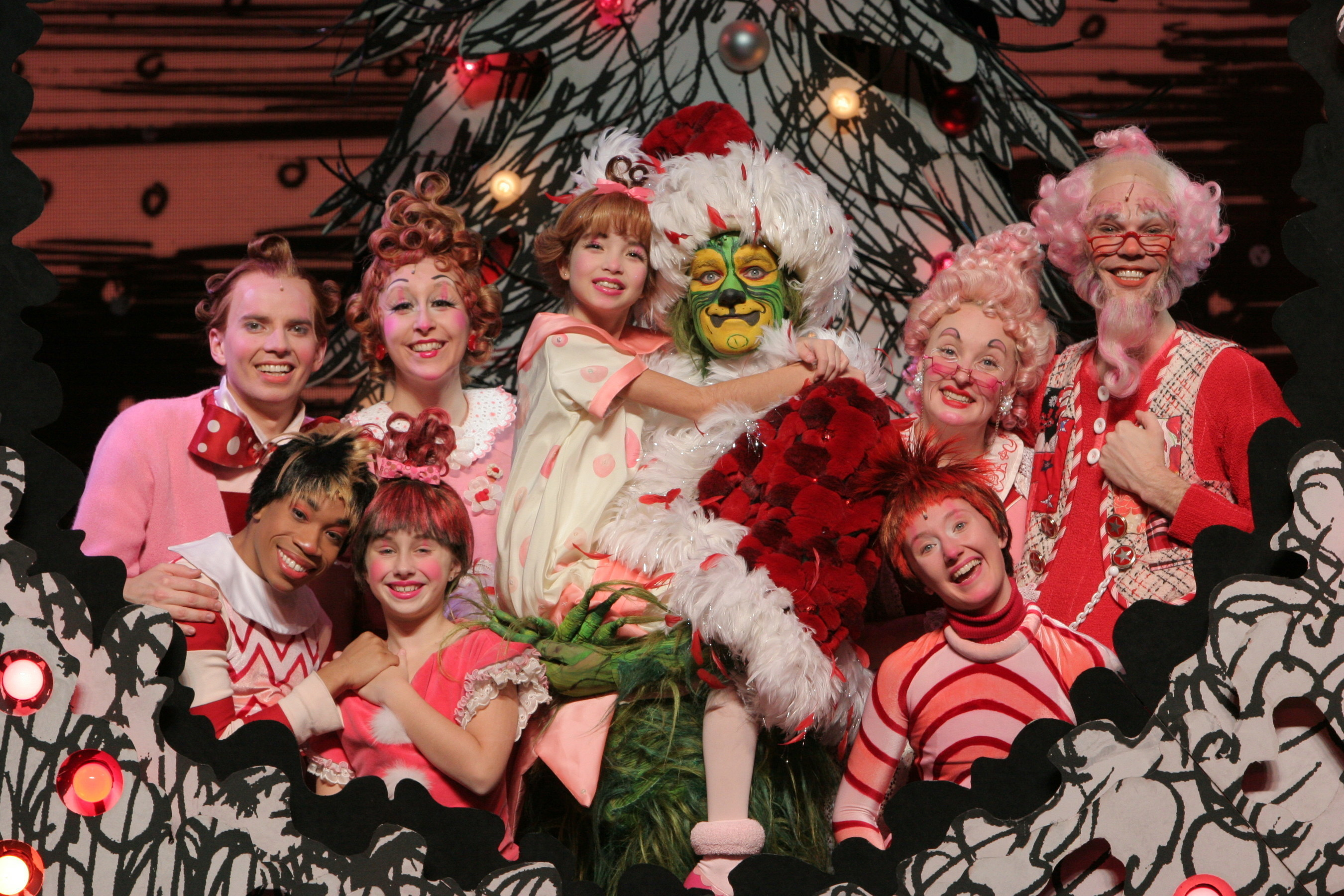 Cast of Dr. Seuss' How The Grinch Stole Christmas! The Musical