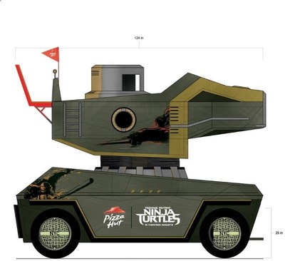 Pizza Hut To Debut Life-Size, Fully Functional Teenage Mutant Ninja Turtles Pizza Thrower At Comic-Con (PRNewsFoto/Pizza Hut)