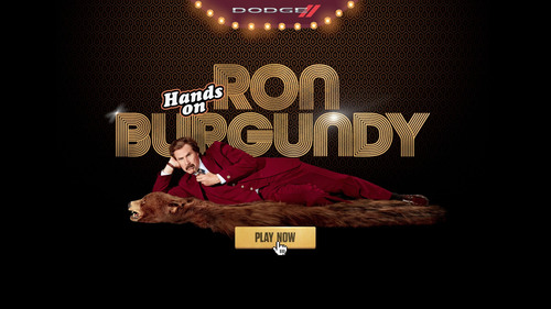 "Dodge and Paramount Pictures give fans the opportunity to get their ""Hands on Ron Burgundy"" through a ..."