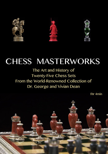 Chess Masterworks: 25 of The World's Greatest Chess Sets! Listen, Watch and Learn about The 1905 Faberge' Set, The Salvador Dali Fingers Set, The Chinese Ivory Set and 22 More Chess Sets from the 16th, 17th, 18th, 19th and 20th Centuries! Like taking a private tour of an Art Museum! APP Version available at iTunes or Google Play! Available as a DVD or Blu Ray at Amazon.com! www.chessmasterworks.net.  (PRNewsFoto/Prairie Media Inc.)