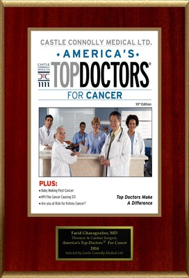 Tucson's Dr. Farid Gharagozloo is selected for America's Top Doctors(R) for Cancer.
