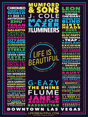 Life is Beautiful Music & Art Festival 2016 Music Lineup