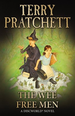 """Sir Terry Pratchett's """"THE WEE FREE MEN,"""" part of the wildly popular Discworld series."""