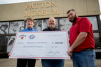 Jim Beam(R) Bourbon, the world's No. 1 bourbon, proudly salutes military men and women with a $100,000 donation to Operation Homefront, a national nonprofit that builds strong, stable, and secure military families. Fred Noe (pictured center), seventh generation Jim Beam master distiller, along with his son, Freddie Noe (pictured right), presented the donation in a ceremony at Ft. Knox, Ky. on December 12, 2015 to Robert Thomas (pictured left), COO of Operation Homefront, to support the Holiday Meals for Military program. Since 2008, Jim Beam has donated more than $2.5 million to Operation Homefront through various charitable efforts.