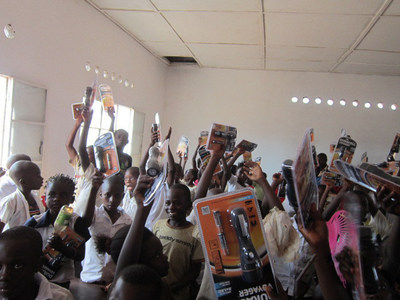 KEMET provided 2,000 Duracell(R) LED flashlights to the children of Kisengo with the intention to enhance reading, safety and mobility. Flashlight acquisition and delivery was facilitated by Tansoo, Inc. of Boca Raton, Florida.
