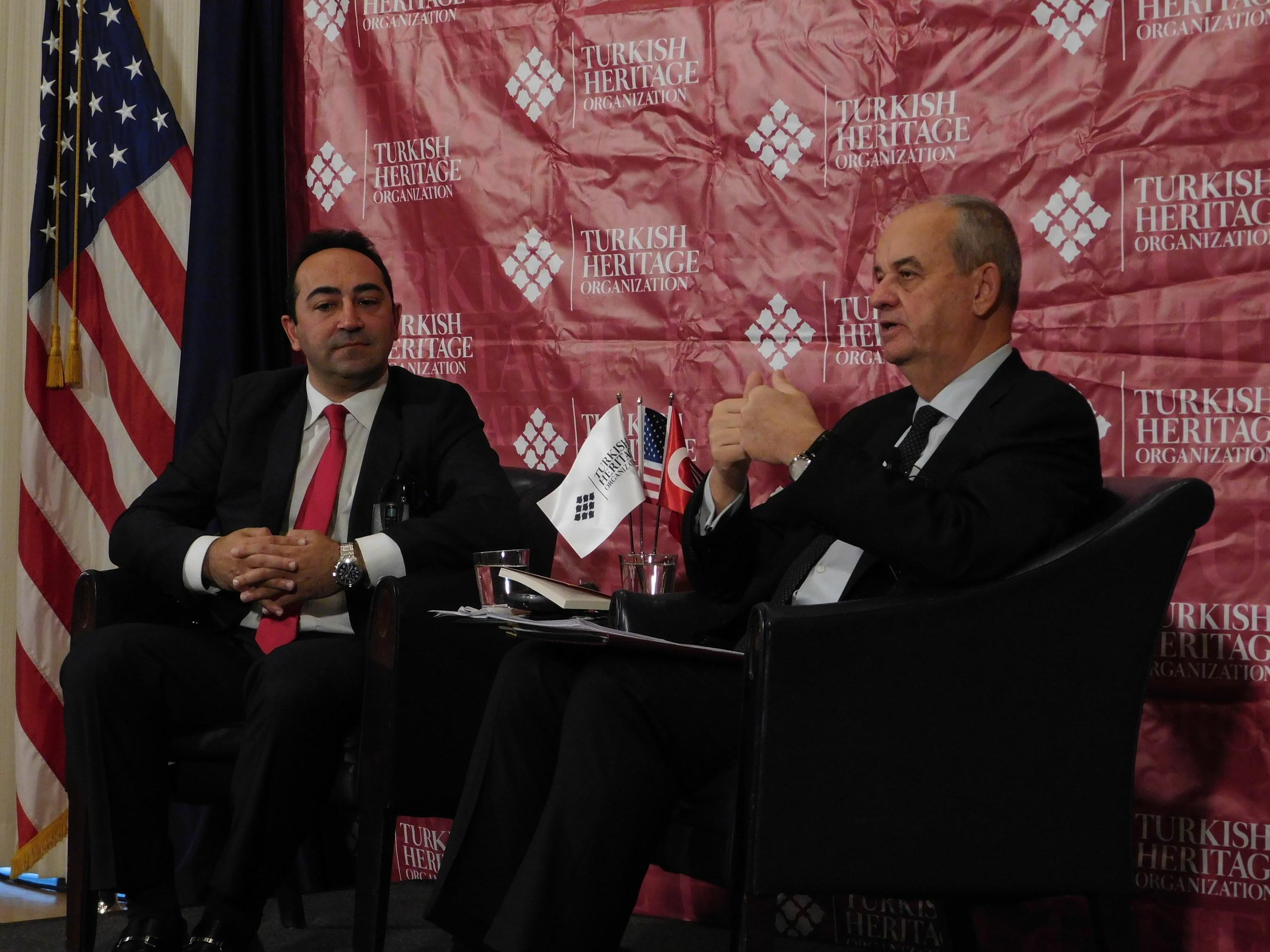 General (Ret.) Ilker Basbug (right) with Turkish Heritage Organization President Ali Cinar at the National Press Club