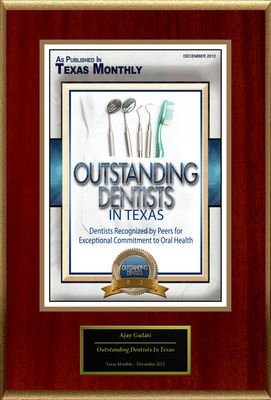 "Ajay Gulati Selected For ""Outstanding Dentists In Texas"".  (PRNewsFoto/American Registry)"