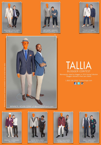Sample of TALLIA ORANGE Spring 2014 advertising page.  (PRNewsFoto/Peerless Clothing)