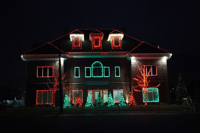 Animated Christmas Light Display at Christensen & Hymas, Personal Injury Law.  (PRNewsFoto/Christensen & Hymas Law Firm)