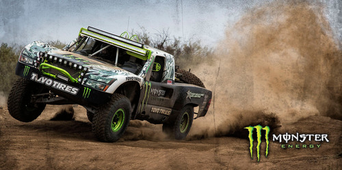 "Monster Energy's ""Ballistic"" BJ Baldwin charges through Baja, California on his way to winning the ..."