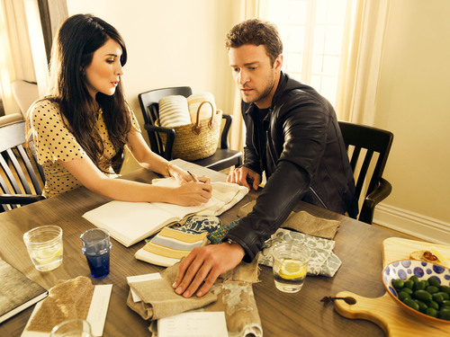Justin Timberlake and Estee Stanley for HomeMint.  (PRNewsFoto/BeachMint)