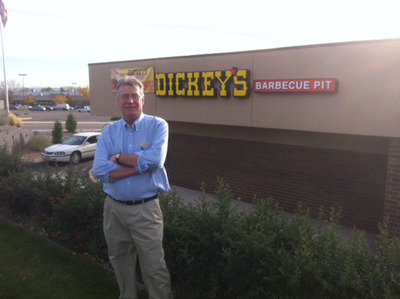 Dickey's franchise owner Larry Volf is ready to open his new location in Westminster, Colorado.  (PRNewsFoto/Dickey's Barbecue)