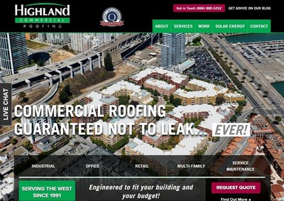 With a new website design, Highland Commercial Roofing aims to make their customer experience as seamless as possible to help in all circumstances - whether customers are planning for, or are in need of, commercial roofing services from inspections and maintenance to re-roofing.