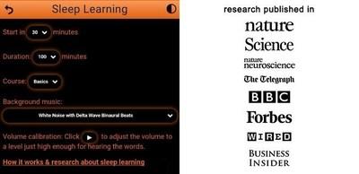 "New ""Sleep learning"" function"