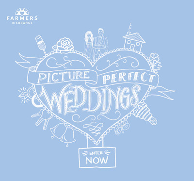 Today through October 28, eligible couples can enter the Picture Perfect Weddings Contest on the Farmers Insurance Facebook Page.  (PRNewsFoto/Farmers Insurance)
