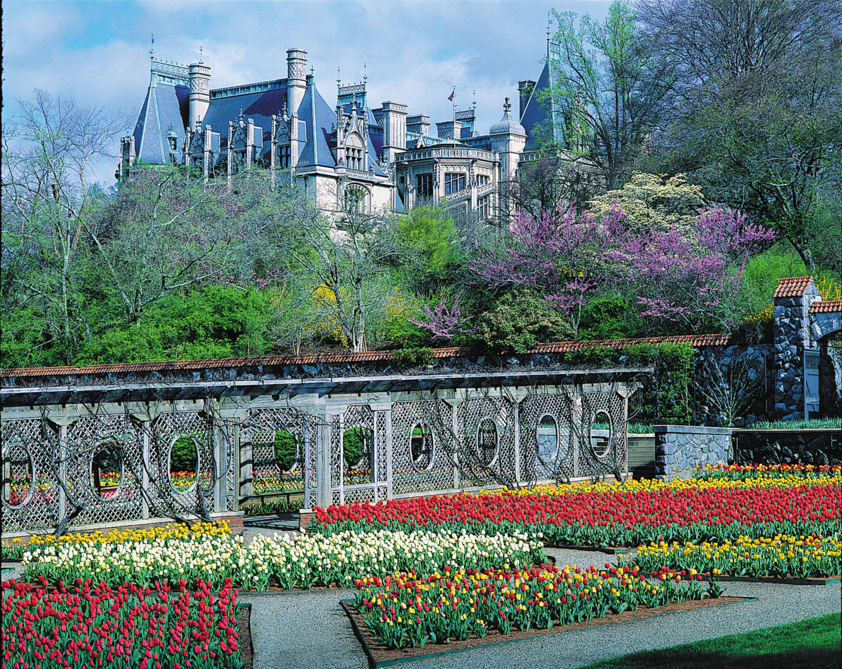 Biltmore Blooms With Spring Flowers Wedding Dresses On Display