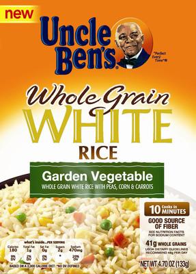 Uncle Ben's Whole Grain White Garden Vegetable Rice.  (PRNewsFoto/Mars Food US)