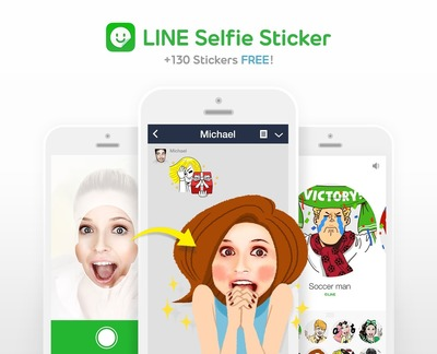 Create your own Selfie Sticker (PRNewsFoto/LINE Corporation)