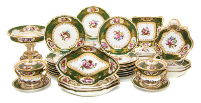 A Derby porcelain table service from the estate of Adele Bloom to be auctioned February 14 by Leslie Hindman Auctioneers. Online bidders can access the sale on LHLive (lhlive.lesliehindman.com) and Bidsquare (bidsquare.com). (PRNewsFoto/Leslie Hindman Auctioneers)