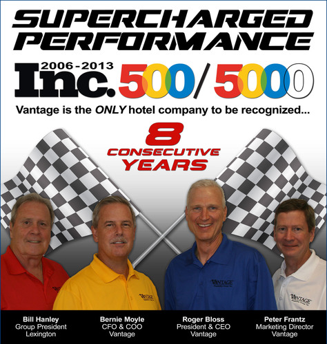 Vantage Hospitality's Supercharged Performance Lands Hotel Company on the Inc. 500/5000 List of