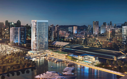 Rendering of 5th Avenue Landing development presented to the Port of San Diego, courtesy of Gensler Architects.