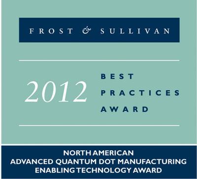 F&S QMC Advanced QD Manufacturing Award.  (PRNewsFoto/Quantum Materials Corporation)