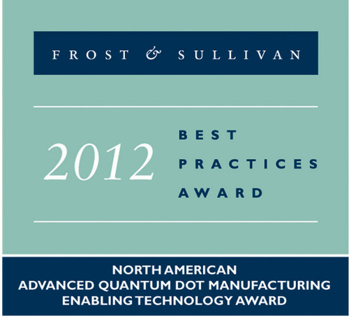 F&S QMC Advanced QD Manufacturing Award.  (PRNewsFoto/Quantum Materials Corporation)