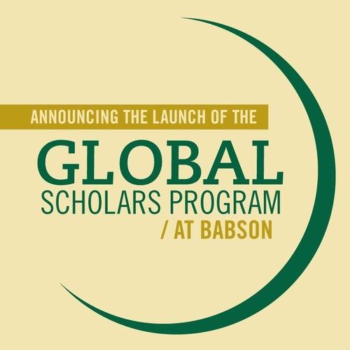 Babson Establishes Scholarship Program for Undergraduate International Students. (PRNewsFoto/Babson College)