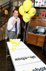 Rob Riggle Plays Beer Pong at the 29th birthday party of Hallmark's Shoebox brand.