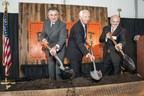 DIAGEO North American President Larry Schwartz, Kentucky Governor Steve Beshear and Bulleit Bourbon Founder Tom Bulleit break ground on a new distillery in Shelbyville, Ky.  The distillery will be called The Bulleit Distilling Co. (PRNewsFoto/Diageo)