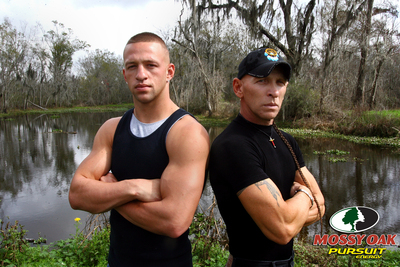 Swamp People R. J. and Jay Paul Molinere endorse Mossy Oak Pursuit Energy